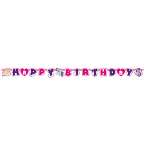 Baner Happy Birthday My Little PONY girlanda 180cm