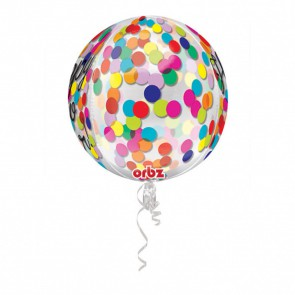 . Balon foliowy kula KONFETTI Happy New Year 40 cm