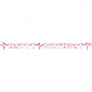 Baner Happy Birthday Baletnica girlanda 180 cm