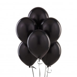 Balony Metalik Czarne Black 10 szt Halloween