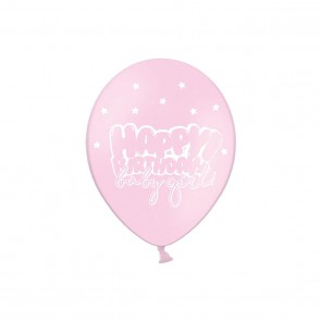 Balony Happy Birthday Baby Girl ROCZEK 30cm 50szt