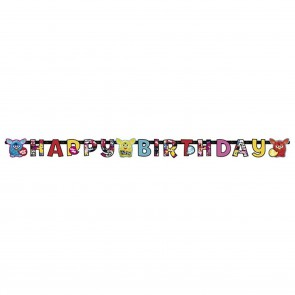 . Baner Happy Birthday FURBY girlanda 180 cm