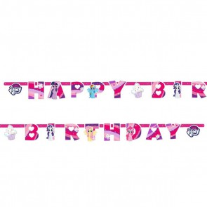 Baner Happy Birthday My Little Pony 130 cm