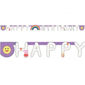 Baner Girlanda HAPPY BIRTHDAY Świnka PEPPA 250 cm.jpg